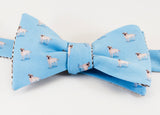 Labrador Retriever Bow Tie - blue