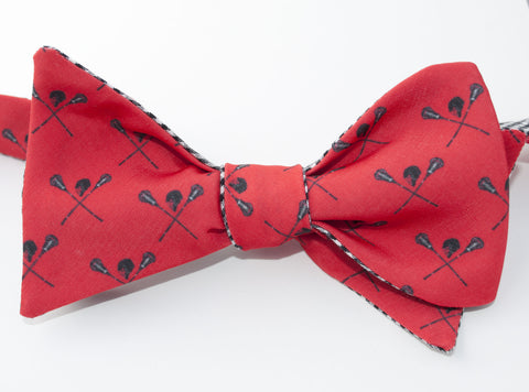 Lacrosse Bow Tie - red