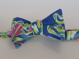 Designer Purple and Lime Bow Tie