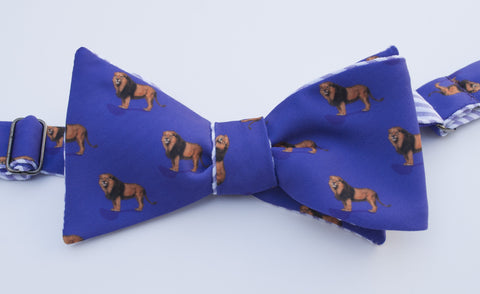 Lion Bow Tie - purple