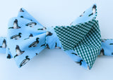 Mallard Duck Bow Tie - blue