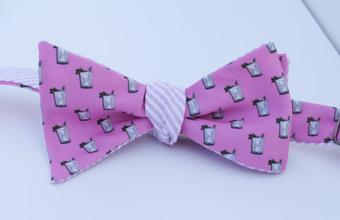 Mint Julep Bow Tie - Pink