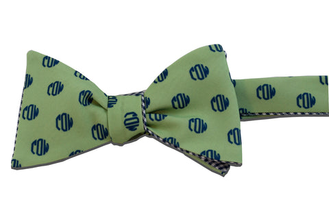 Monogram Bow Tie - circle design