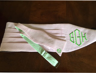 Add a Monogram to a Cummerbund