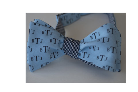 Monogram Bow Tie Block letters