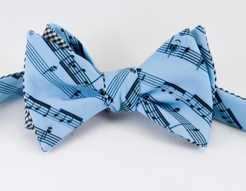 Copy of Musical Notes Blue Bow Tie