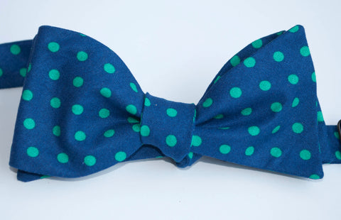 Navy with Green Dot Bow Tie