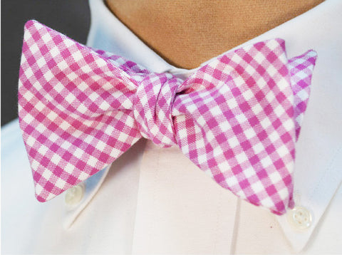 Check Bow Tie - pink