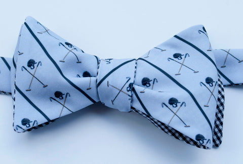 Polo Helmet Emblem Bow Tie - light grey