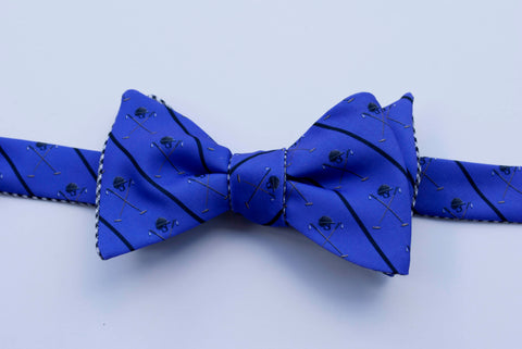 Polo Helmet Emblem Bow Tie - purple