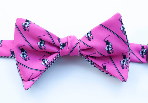 Polo Player Bow Tie - pink