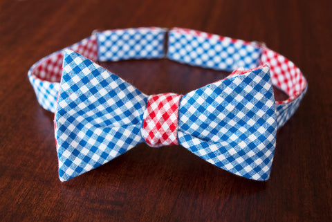 Tattersall Reversible Bow Tie - Choice of Colors!
