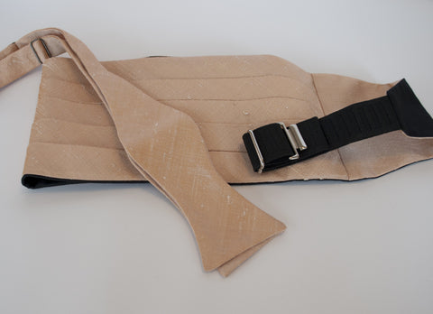 Rose Gold Silk Cummerbund and tie set