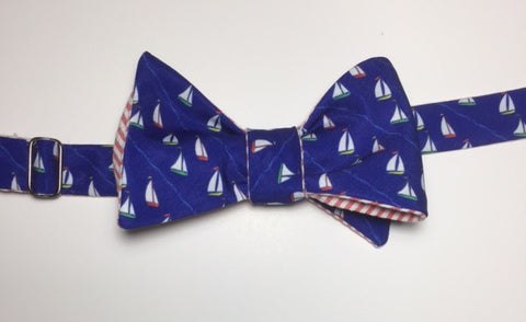 Sailboat Sports Bow Tie - navy blue