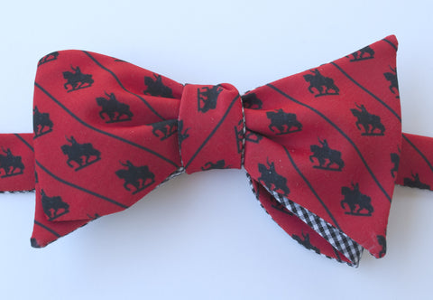 St. Louis Statue Bow Tie - red