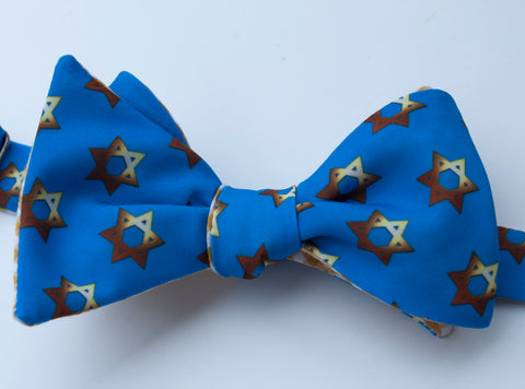 Star of David Bow Tie - gold
