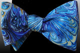 Blue Watercolors Bow Tie