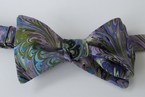 Purple Oil and Water Bow Tie