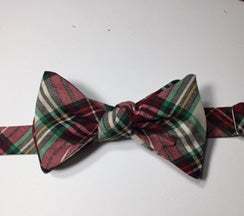 Winter Plaid Bow Tie