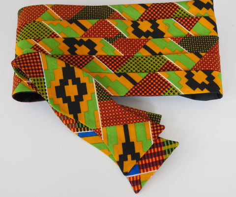 Kenti Cloth Bow Tie - multi