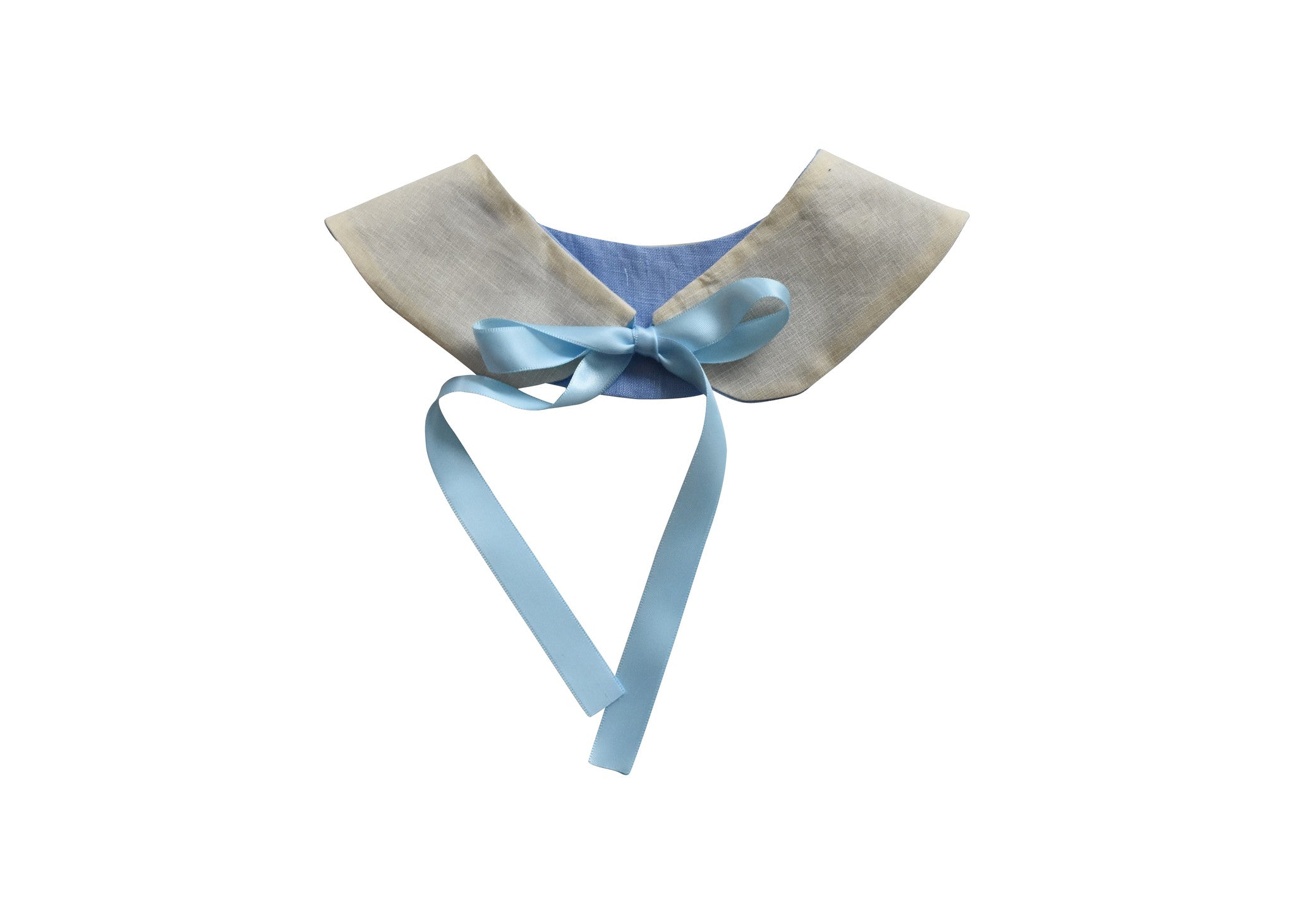 Blue and Cream Reversible Collar