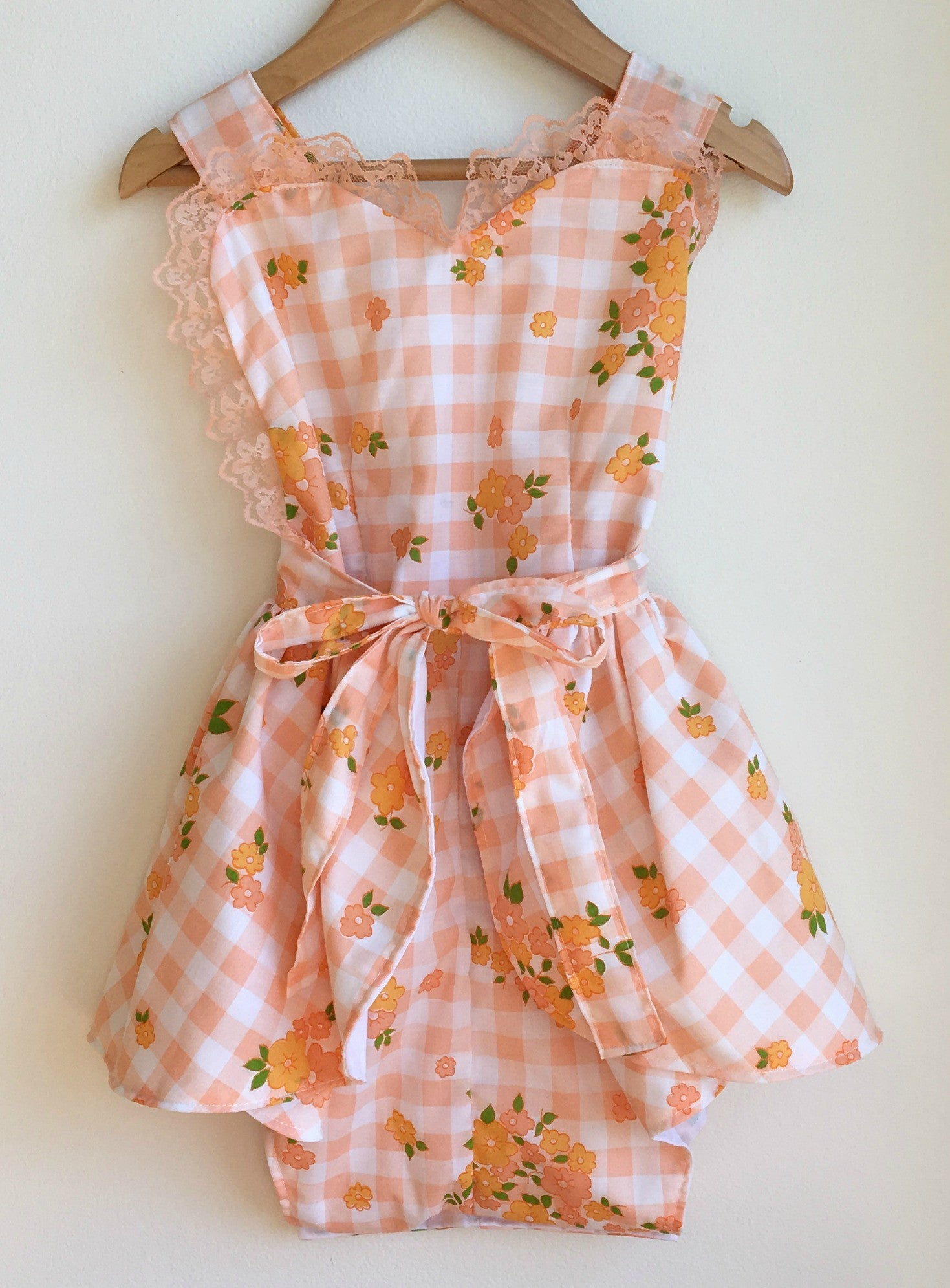 Peach Picnic Girls' Playsuit Romper