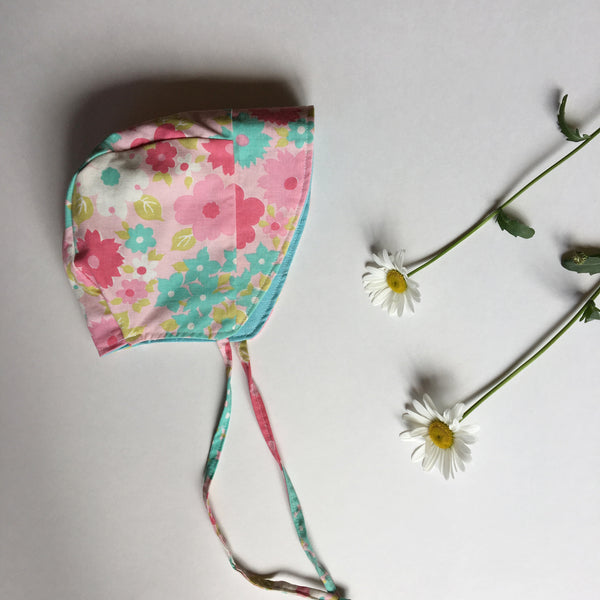 Summer Reversible Baby Bonnet