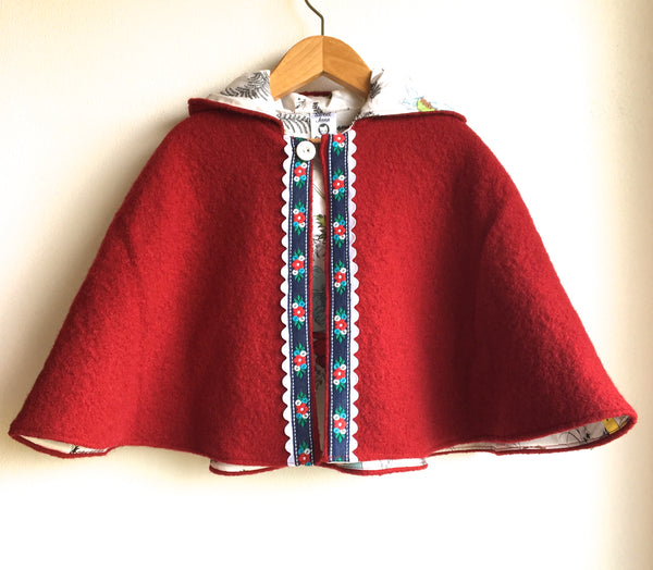 """At Last"" Hooded Wool Cape"
