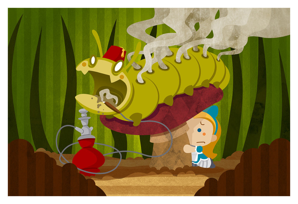 Alice and the Zombie Caterpillar (13x19)