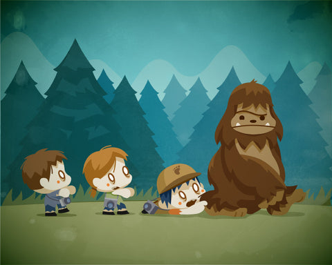 Big Foot and the Zombies (8x10)