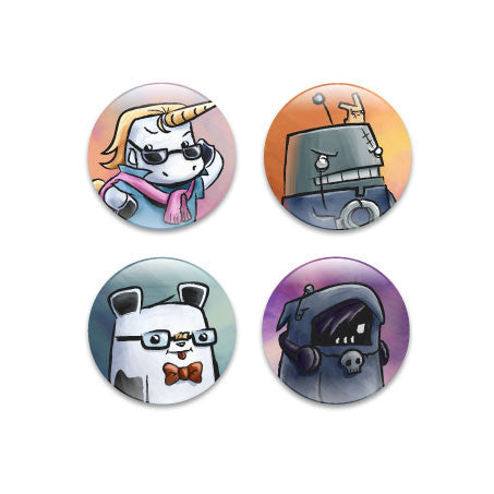 Pixipets Portraits Assorted Buttons (4pcs)