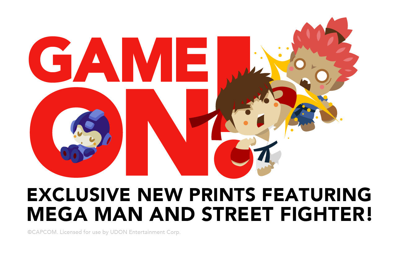 Exclusive new prints featuring Mega Man and Street Fighter!