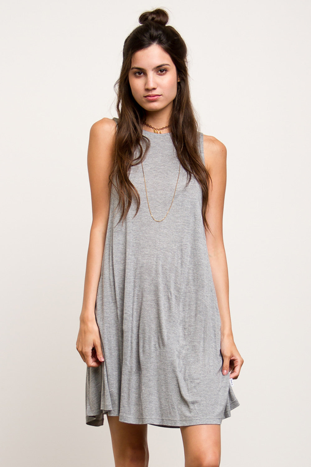 e23a1eecce4 ... RVCA High Neck Jersey Knit Swing Dress - Inspire L  Amour ...
