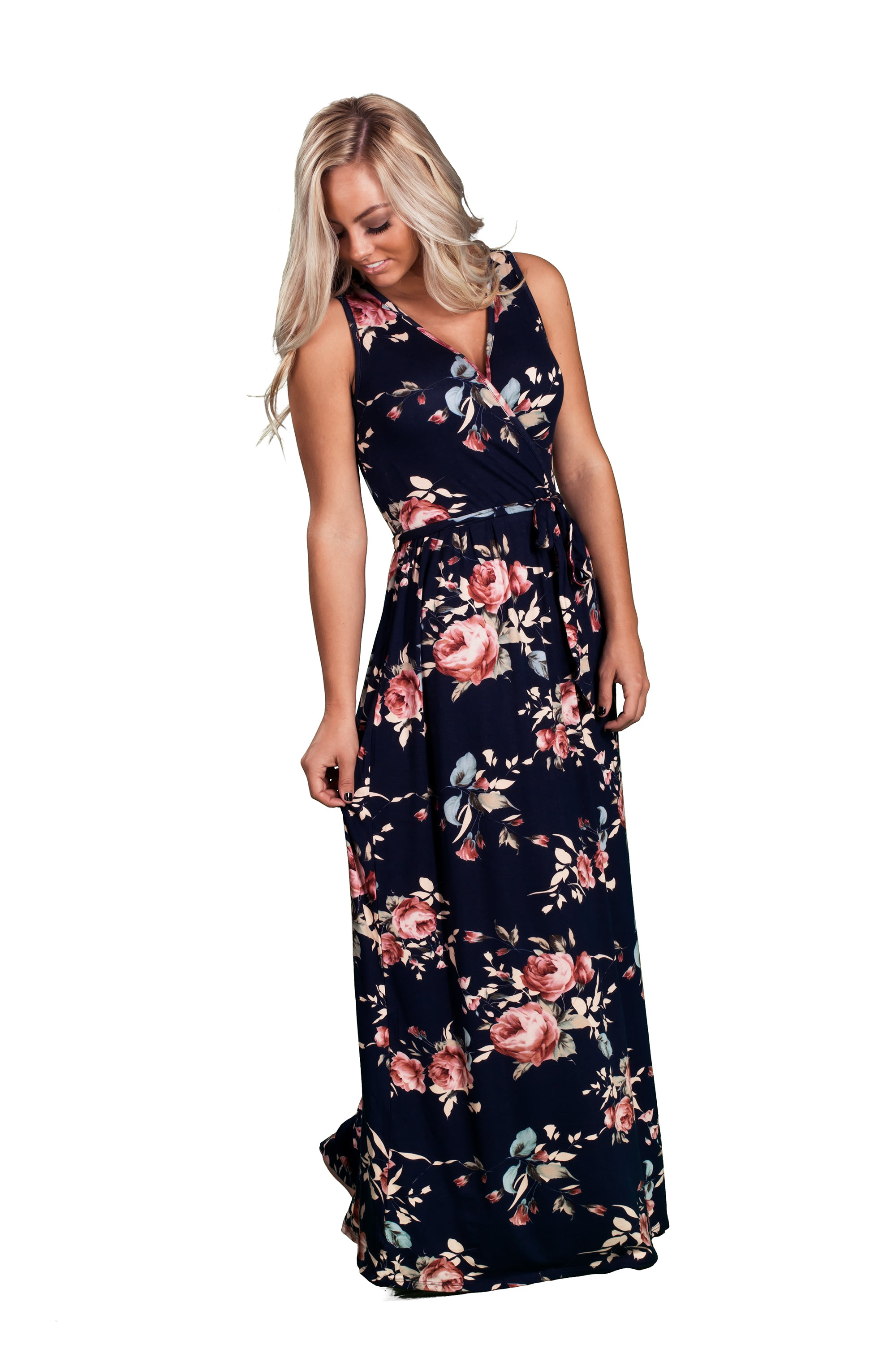 93dfd28420e ... Sleeveless Floral Maxi Dress - Inspire L  Amour ...