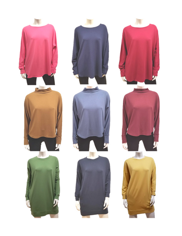 bamboo french terry tops by Gilmour Clothing
