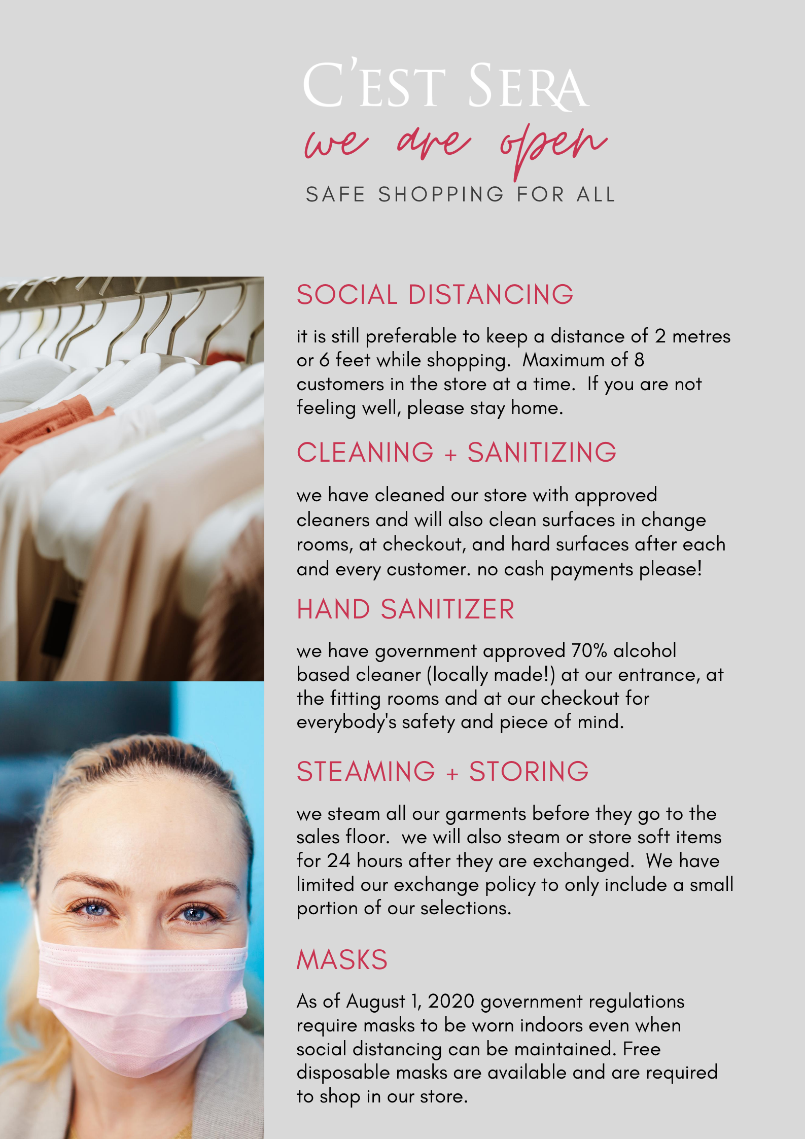 safe shopping protocols august 1