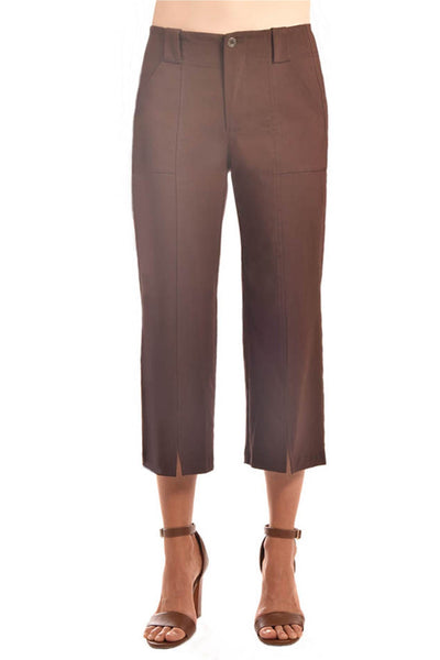 Brenda Beddome Front Slit Culotte Pant in Brown