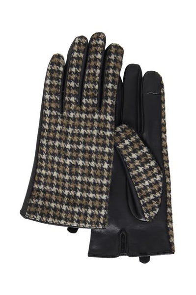 ICHI Elina Houndstooth Pattern Gloves