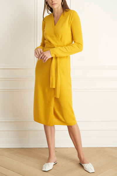 Iris Setlakwe Merino Blend Wrap Dress