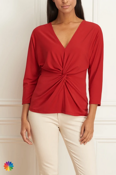 I by Iris Long Sleeved Knotted Top