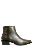 Emilie Karston Panama Leather Detailed Bootie