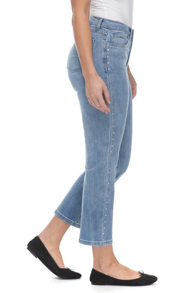 FDJ Olivia Boot Crop In Light Denim