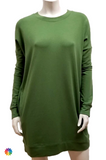 Gilmour Clothing Bamboo French Terry Longline Sweatshirt Tunic {In Store}