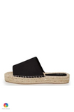 ICHI Hipp Leather Slip On Sandals