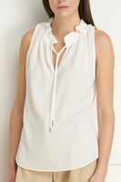 Iris Setlakwe Cami Top with Drawstring Collar