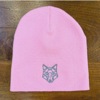 Kelly Wollf Embroidered Wolf Beanie Hat