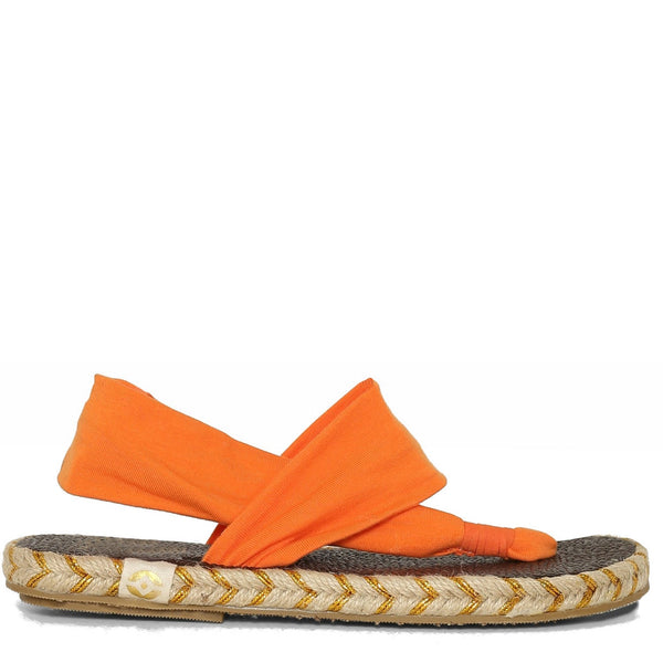Go glam this summer with the richness of velvet in our Ganika espadrille. Nalho brings you the same comfort of the original yoga mat sandal, now in a bright orange hue! Your summer just got a little more elegant... so comfortable you may never want to take these off!