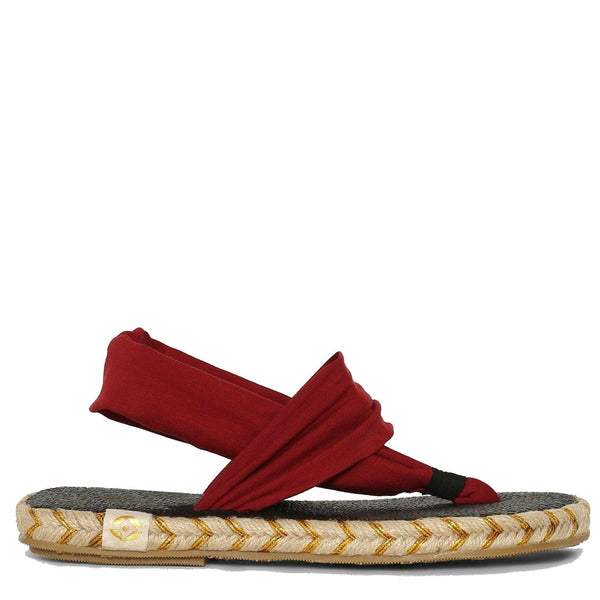 Go glam this summer with the richness of velvet in our Ganika espadrille. Nalho brings you the same comfort of the original yoga mat sandal, now in a red hue! Your summer just got a little more elegant... so comfortable you may never want to take these off!