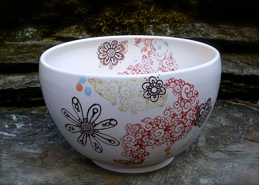 flowery bubble bowl
