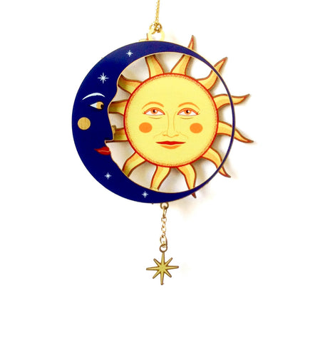 Blue Moon and Sun Ornament